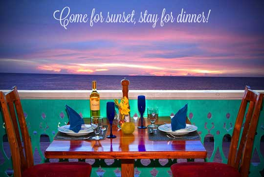 Come for the sunset, stay for dinner