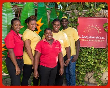 The staff at Ciao Jamaica