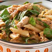 Jerk Chicken Penne Pesto